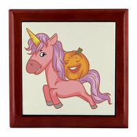 Halloween Unicorn Pumpkin Jewelry Box, Gifts for Trick Treat Party