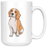 Beagle White Coffee Mugs, Funny Gift for Cute Dog Lovers