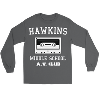 Hawkins Middle School Cassette Unisex Long Sleeve T Shirt for Men and Women