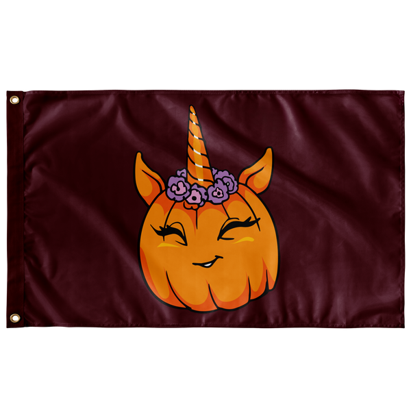 Unicorn Pumpkin Halloween Flag, Gifts for Trick Treat Costume Party
