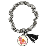 Halloween Unicorn Pumpkin Bracelet, Gifts for Trick Treat Party