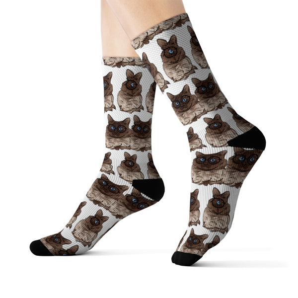 Balinese Cat Socks, Cat Lover Gifts 9186A