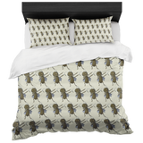 Grasshopper Duvet Cover Pillow Shams, Dabbing Gifts for Insect Bug Lovers