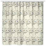 American Wirehair Cat Shower Curtain, Cat Lover Gifts 9185