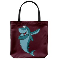 Shark Tote Reusable Grocery Bag, Dabbing Gifts for Fishing Lovers