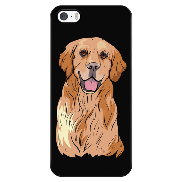 Golden Labrador Retriever Smart Phone Case for iPhone, Cute Gift for Dog Lovers