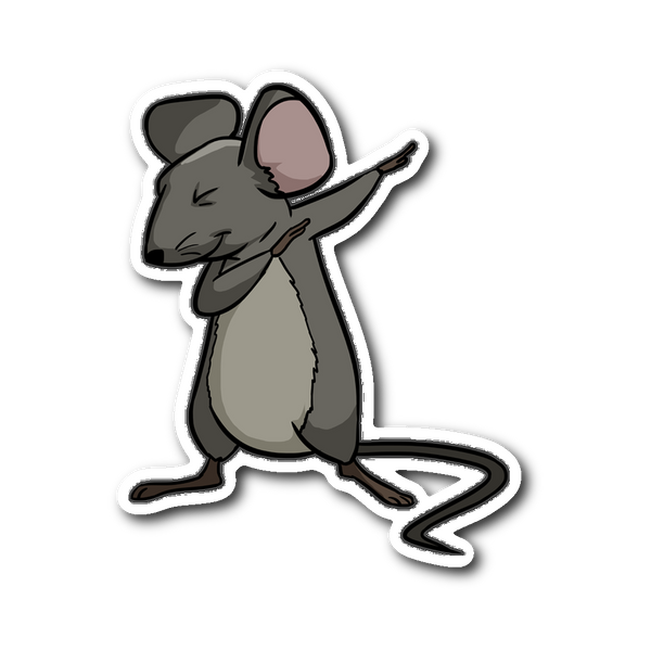 Dabbing Mouse Rat Sticker for Car Bumper, Gifts for Rodent Lovers
