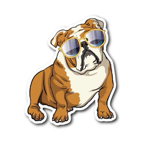 Bulldog Sticker, Cute Gift for Cute Dog Lovers