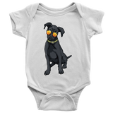 Black Labrador Baby Romper Bodysuit, Cute Gift for Cute Dog Lovers
