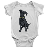 Black Labrador Baby Romper Bodysuit, Funny Gift for Cute Dog Lovers