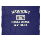 Stranger Hawkins Middle School Fleece Blanket for Women Men Kids Things A V Club
