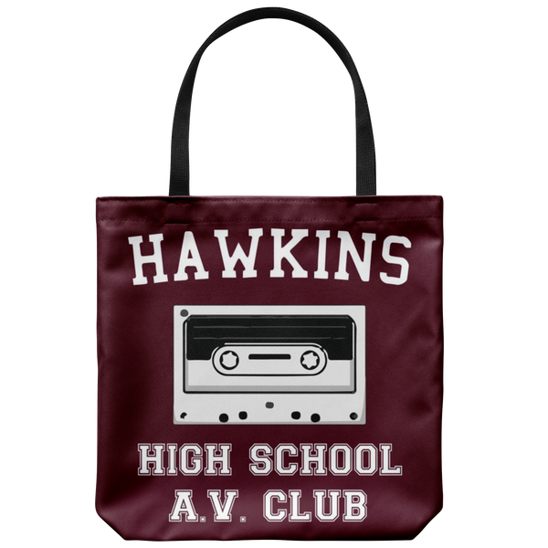 Hawkins High School Tote Reusable Grocery Bag, Christmas Gifts for AV Club Lovers