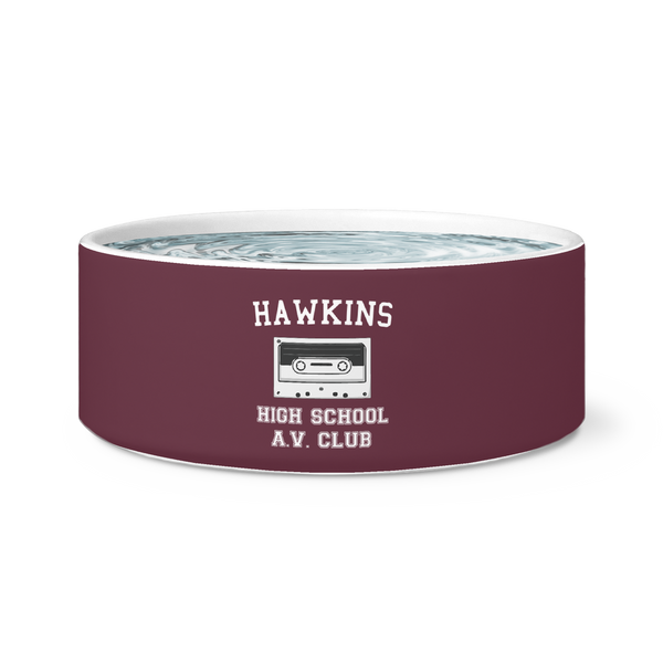 Hawkins High School Pet Dog Bowl, Christmas Gifts for AV Club Lovers