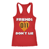 Friends Don't Lie Stranger Heart Shaped Waffle Eleven Racerback Tank Top for Women