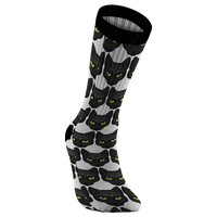 Black Cat Face Socks, Gifts for Cat Lovers