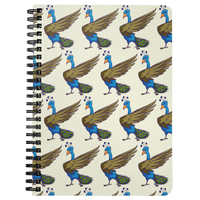 Peacock Journal Diary Spiralbound Notebook, Bird Lover Gifts