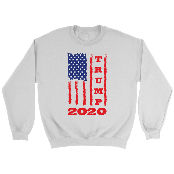 Trump 2020 USA Flag Sweatshirt, Gifts for Republicans Conservative