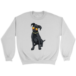 Black Labrador Unisex Sweatshirt, Cute Gift for Cute Dog Lovers