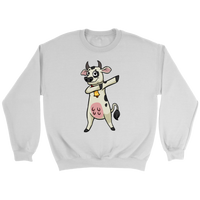 Dabbing Cow Sweatshirt, Gifts for Farmers Farm Animal Lovers