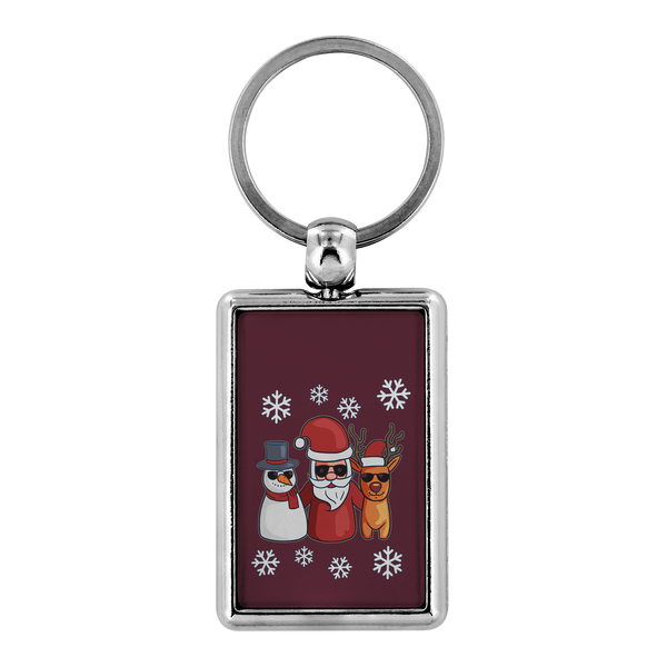 Santa Snowman Reindeer Keychain for Men Women Key Chain, Christmas Gifts for Snow Lovers
