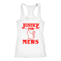Justice for Mews Cat Racerback Tank Top for Women