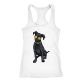 Black Labrador Womens Racerback Tank Top, Cute Gift for Cute Dog Lovers