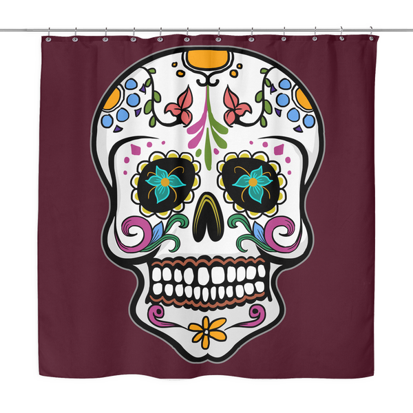 Skull Shower Curtain, Sugar Gifts for Day of the Dead