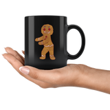 Gingerbread Man Black Coffee Mug, Floss Dancing Gifts for Dance Lovers