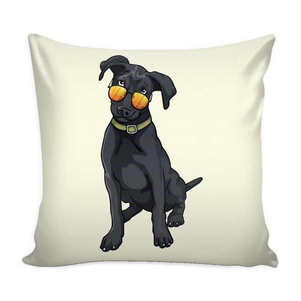 Black Labrador Pillow Covers, Cute Gift for Cute Dog Lovers