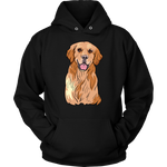 Golden Labrador Retriever Hoodie Sweatshirt, Cute Gift for Dog Lovers