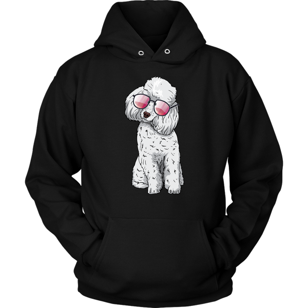 Poodle Dog Sunglasses Funny Hoodie Sweatshirt, Gifts for Dog Puppy Lovers