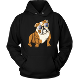 Bulldog Hoodie Sweatshirt, Cute Gift for Cute Dog Lovers