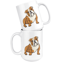 Bulldog White Coffee Mugs, Funny Gift for Cute Dog Lovers