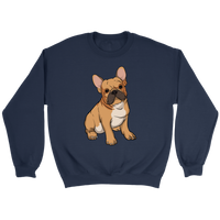 French Bulldog Unisex Sweatshirt, Funny Gift for Cute Dog Lovers