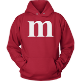 Funny M Candy Halloween Unisex Hoodie for Men Women Plus Size