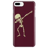 Halloween Skeleton Dabbing Phone Case for iPhone, Gifts for Trick Treat Skull Party