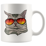 American Shorthair Cat White Coffee Mug 11oz, Cat Lover Gifts 9184A