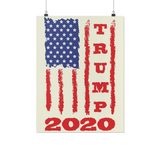 Trump 2020 USA Flag Wall Poster, Gifts for Republicans Conservative