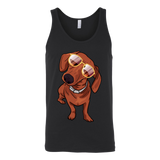Dachshund Unisex Tank Top, Cute Gift for Cute Dog Lovers