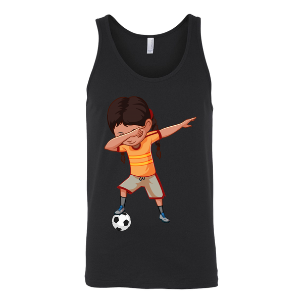 Cute Funny Dabbing Dance Soccer Tank Top for Men and Women