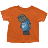 Manatee Im With Stupid Commercial Novelty Toddler T Shirt for Boys Girls Kids