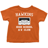 Hawkins High School Toddler Tee Shirt, Christmas Gifts for AV Club Lovers