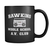 Stranger Hawkins Middle School Funny Coffee Mugs for Men Women Things A V Club