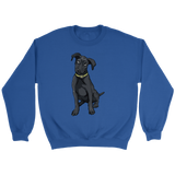 Black Labrador Unisex Sweatshirt, Funny Gift for Cute Dog Lovers