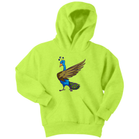 Peacock Youth Hoodie, Bird Lover Gifts
