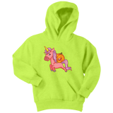Halloween Unicorn Pumpkin Youth Hoodie, Gifts for Trick Treat Party