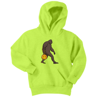 Halloween Bigfoot Sasquatch Pumpkin Youth Hoodie, Gifts for Costume Party