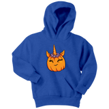 Unicorn Pumpkin Halloween Youth Hoodie, Gifts for Trick Treat Costume Party
