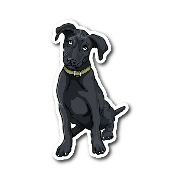 Black Labrador Sticker, Funny Gift for Cute Dog Lovers