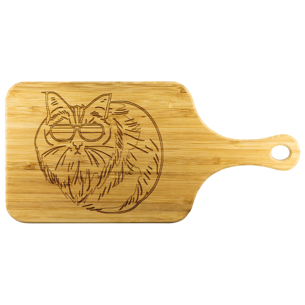 Birman Cat Wood Cutting Board with Handle, Cat Lover Gifts 9188A